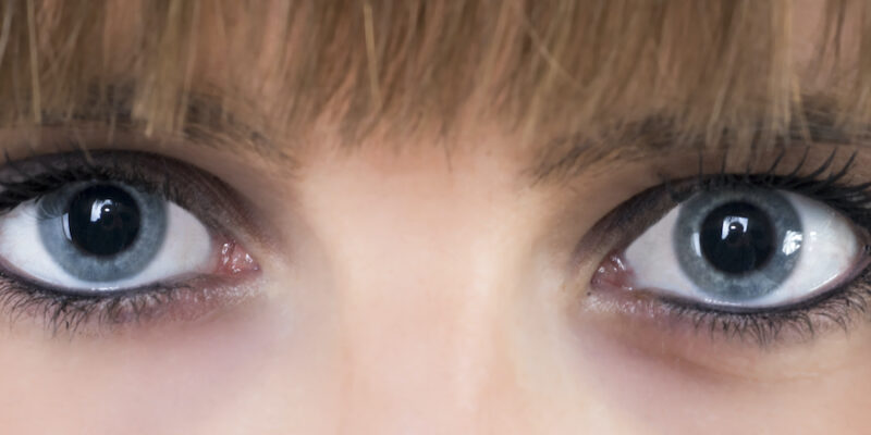 Image Of A Girl's Blue Eyes