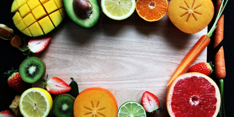 Selection Of Healthy Fruits And Vegetables